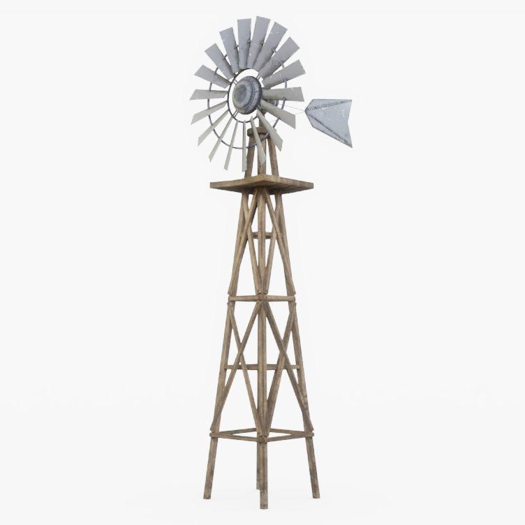 farm windmill wind 3D model