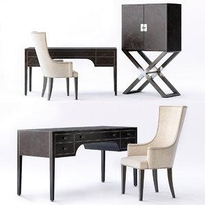 clarendon leather desk model