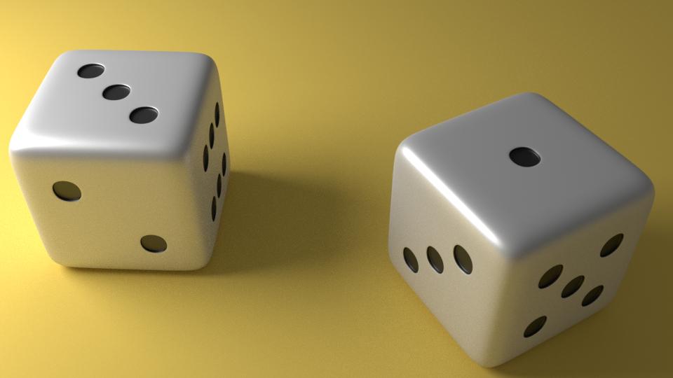 3D 6 edged dice