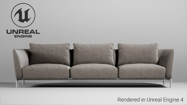 sofa unreal engine 4 3D model