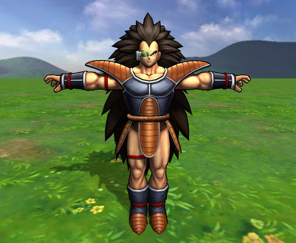 3D raditz dragonball dragon ball