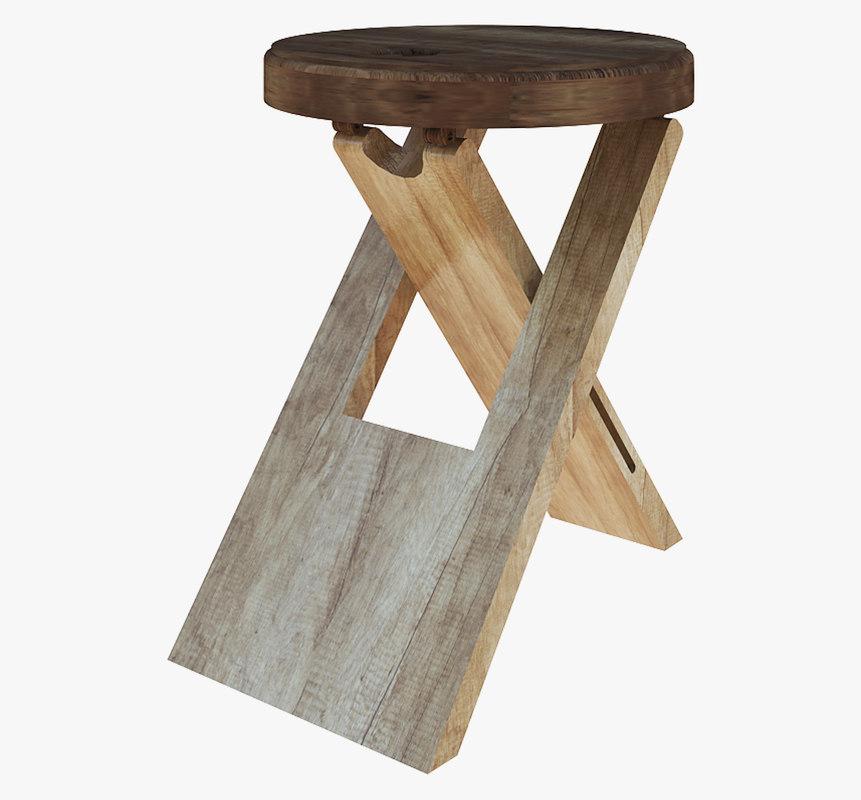 stool modeled model