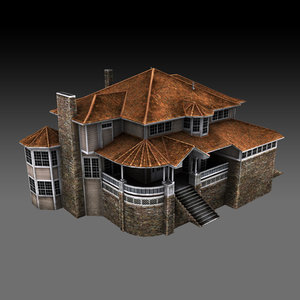 3D model old luxury house games