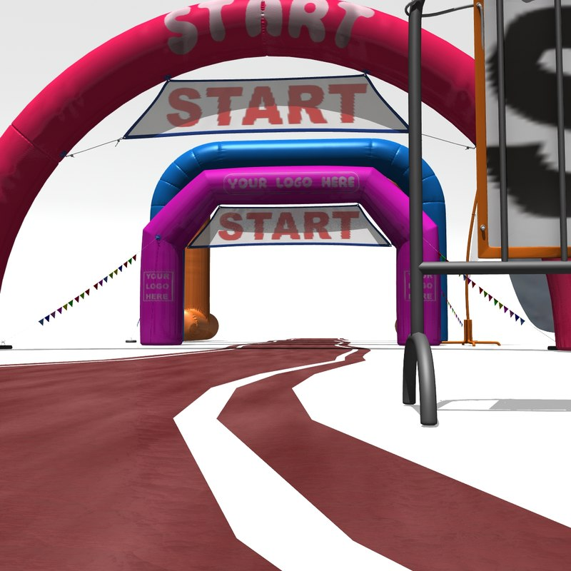 3D inflatable archways arch