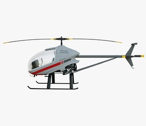 helicopter lights 3D model