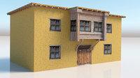 adobe house 3D model