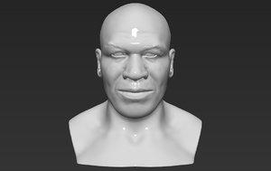 mike tyson bust ready 3D model