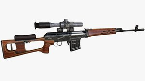 3D dragunov sniper rifle model