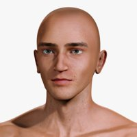 3D model male body realistic