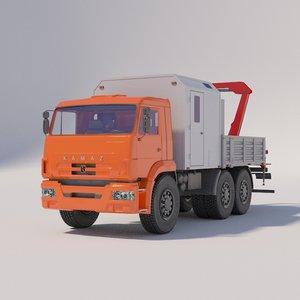kamaz workshops 3D model