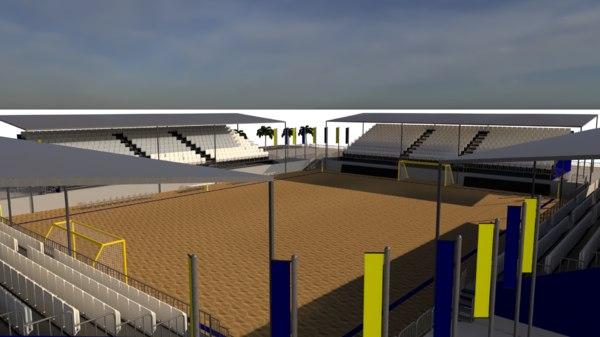 3D beach stadium model