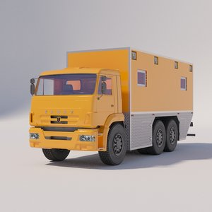 kamaz mobile laboratory technical 3D