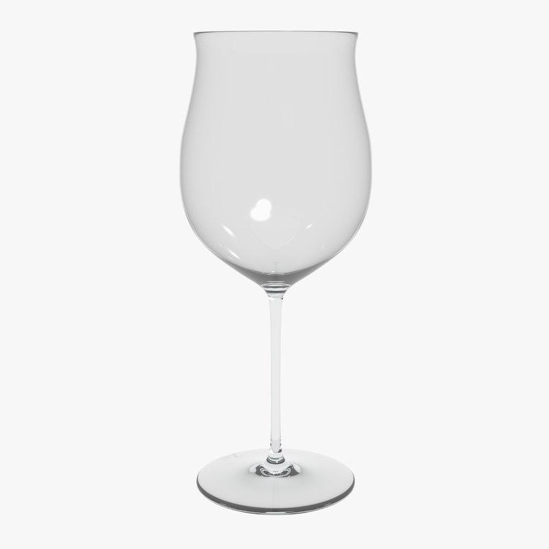 glass riedel superleggero burgundy 3D model