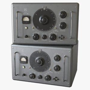 3D model vintage signal generator zg-10