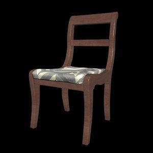 wooden chair model