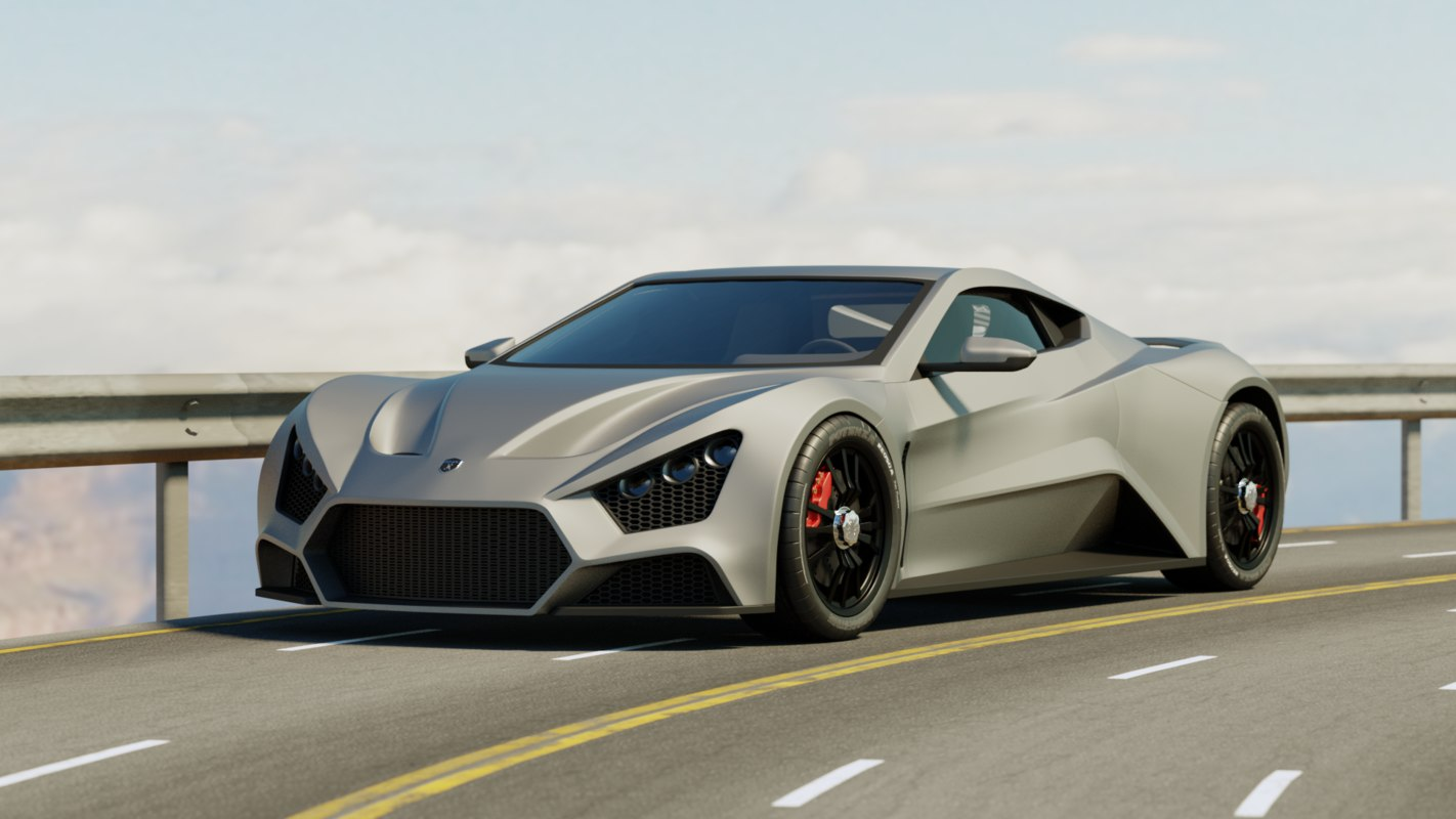 zenvo st 3D model