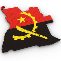 3D angola country