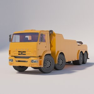 wreckers autotransporters chassis kamaz 3D