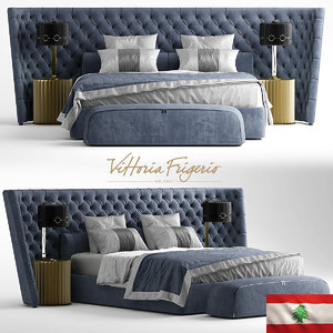 bed vittoria frigerio king 3D model