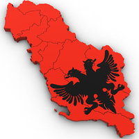 albania country 3D model