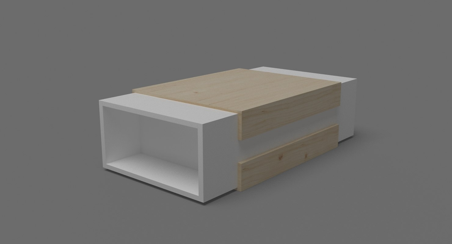contempoary coffee table 02 3D model