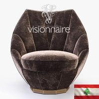3D visionnaire sontag armchair