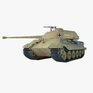 3D king tiger - model
