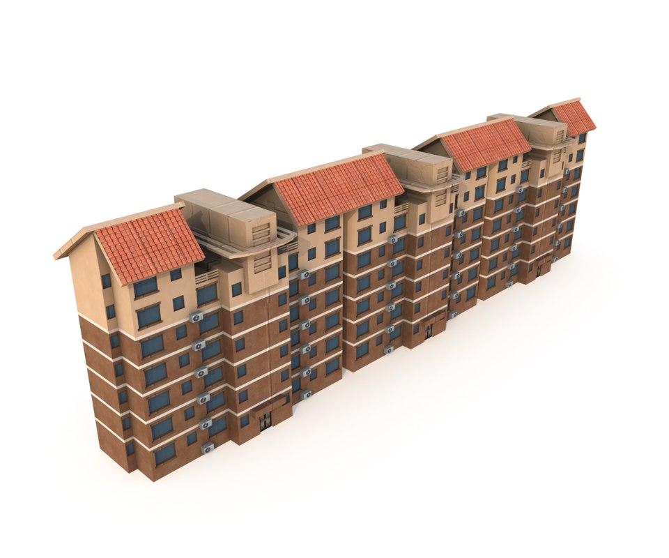 3D residential building asian lod