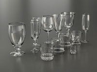 glassware glasses 3D model