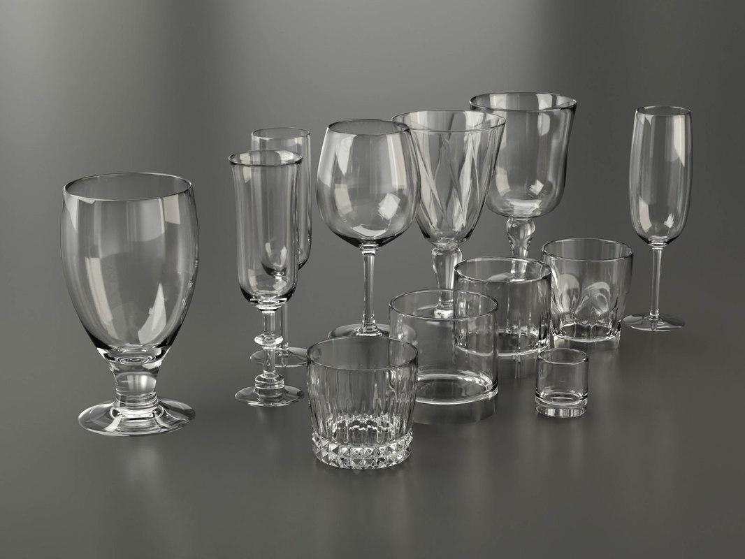 glassware glasses 3D model