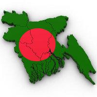 3D model bangladesh country