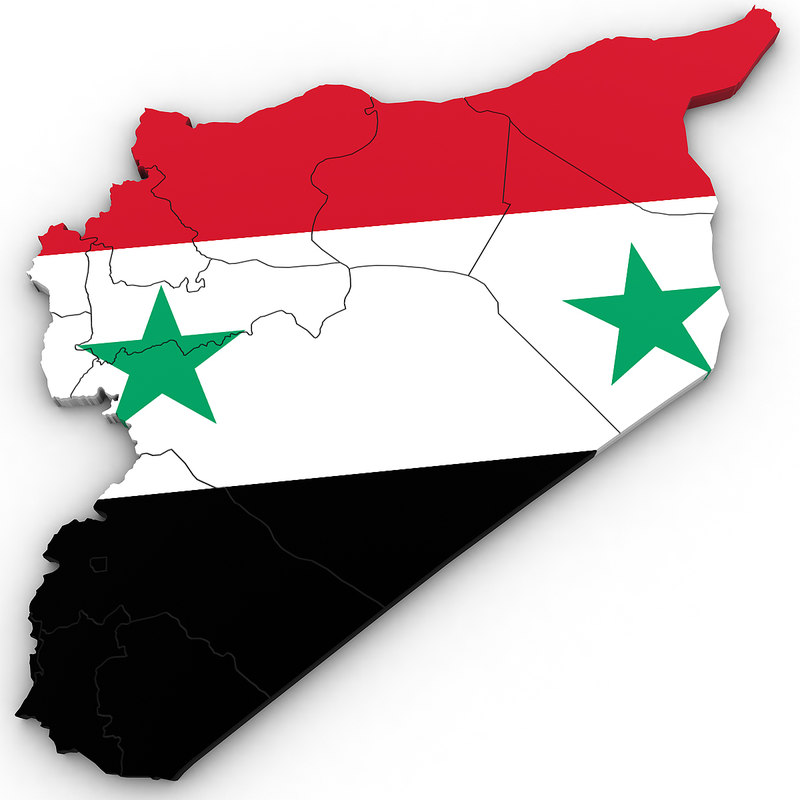 syria regions 3D model