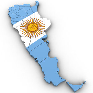 3D argentina country