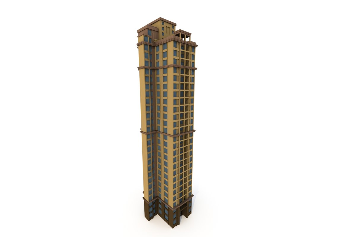 residential building 04 asian 3D