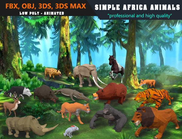 animals africa cat cartoon model