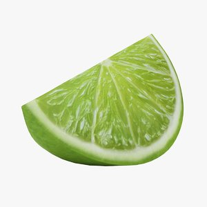 realistic small lime slice 3D model