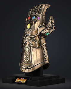 3D infinity gauntlet - thanos model