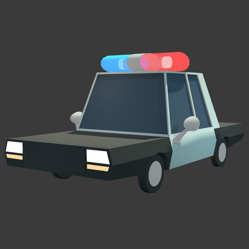 simple police car 3D model