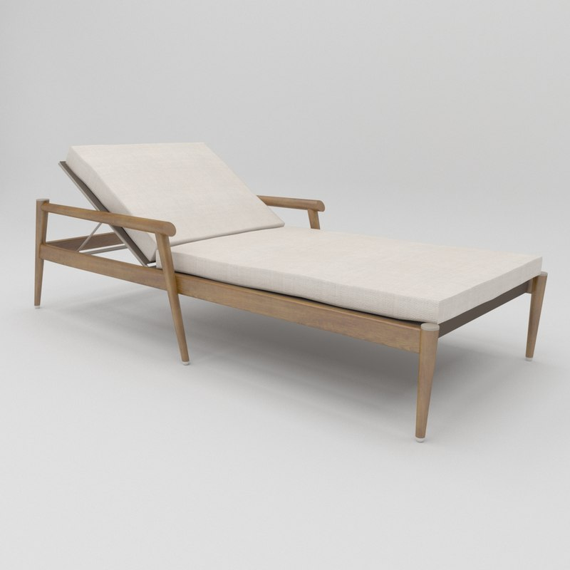 3D konos chaise lounge