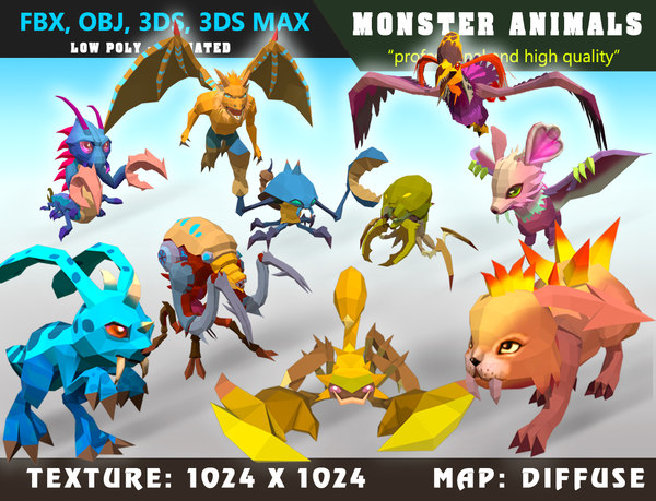 monster cartoon 01 - 3D model