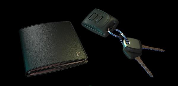 3D wallet car keys