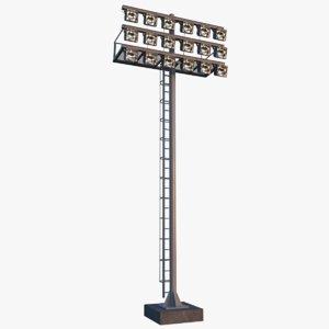 stadium light 3D model