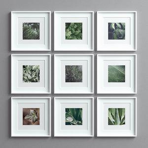 3D picture frames set -17 model