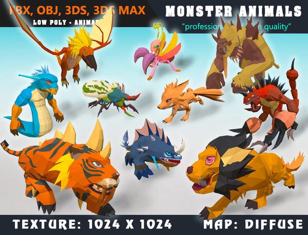 monster cartoon - 3D model