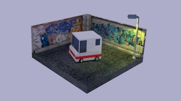 3D truck polygonal