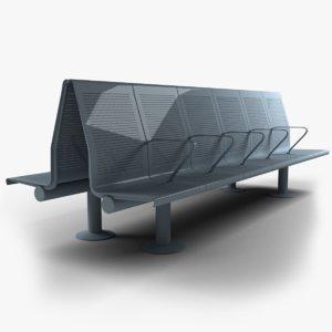 seating public 3D model