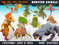 3D monster cartoon - ready