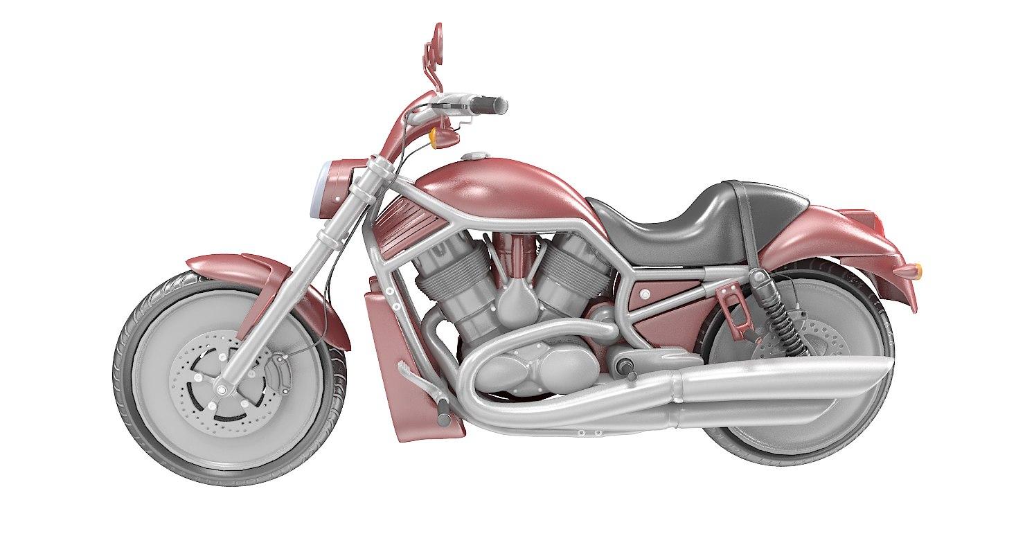 3D model motorcycle motor cycle