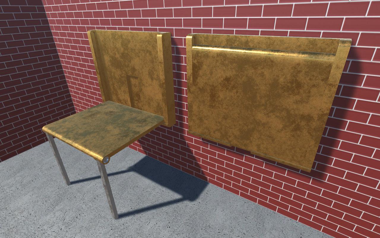 hidden table 1 metal 3D model