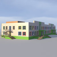 building kindergarten 3D model